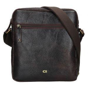Pánská kožená taška Daag Tobias – tmavě hnědá 14988