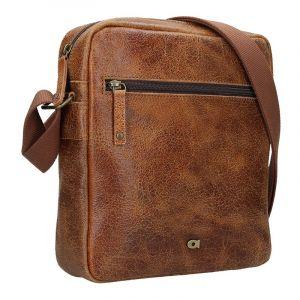 Pánská kožená taška Daag Tobias – světle hnědá 14987