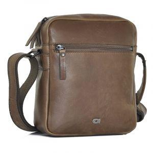 Pánská kožená taška Daag Peter – tmavě hnědá 19243