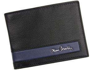 Pánská kožená peněženka Pierre Cardin Roger – černo-modrá 14479