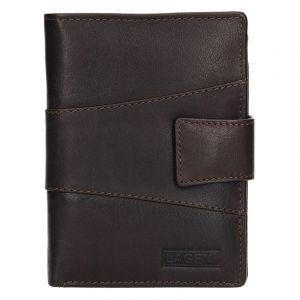 Pánská kožená peněženka Lagen Conor – tmavě hnědá 14362