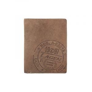 Pánská kožená peněženka Lagen Gustavo – hnědá 14252