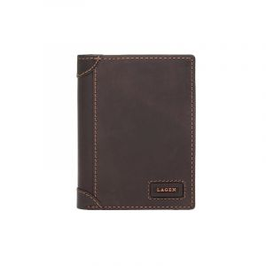 Pánská kožená peněženka Lagen Bernardo – hnědá 14248