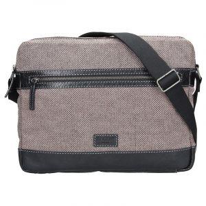 Pánská taška přes rameno Lagen Marlon – černo-šedá 14177