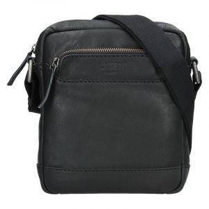 Pánská kožená taška přes rameno Lagen Demarcus – černá 14171