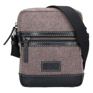 Pánská taška přes rameno Lagen Albert – černo-šedá 14167