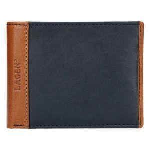 Pánská kožená peněženka Lagen Bill – modro-hnědá 14161