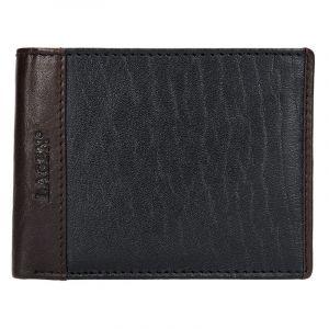Pánská kožená peněženka Lagen Bill – černo-hnědá 14160