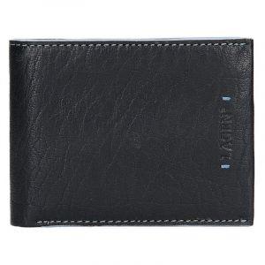 Pánská kožená peněženka Lagen Tobias – černo-modrá 14153