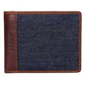 Pánská peněženka Lagen Sander – hnědo-modrá 14152