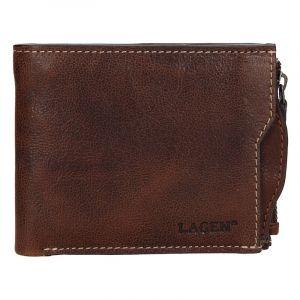 Pánská kožená peněženka Lagen Elias – světle hnědá 14151