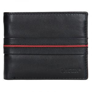 Pánská kožená peněženka Lagen Jonas – černo-červená 14149