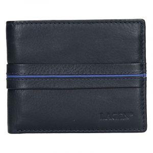 Pánská kožená peněženka Lagen Jonas – modrá 14148
