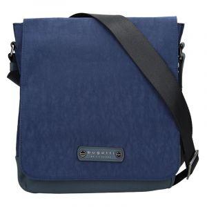 Pánská taška přes rameno Bugatti Franck – modrá 14064