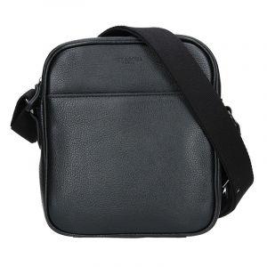 Pánská kožená taška přes rameno Hexagona Ermin – černá 14038