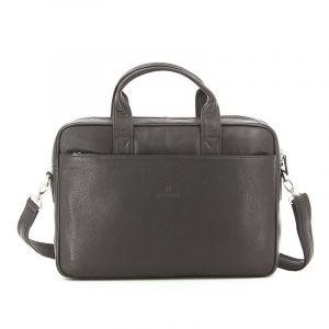 Pánská kožená taška přes rameno Hexagona Tango – tmavě hnědá 13780