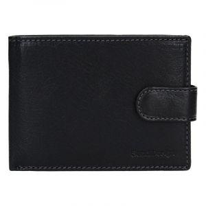 Pánská kožená peněženka SendiDesign Leon – černá 13745