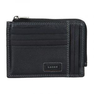 Pánská kožená slim peněženka Lagen Rudolf – černá 13696