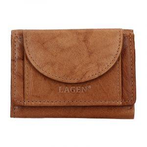 Pánská kožená slim peněženka Lagen Floyd – hnědá 13672