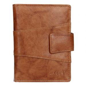 Pánská kožená peněženka Lagen Conor – hnědá 13659