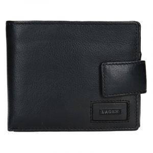 Pánská kožená peněženka Lagen Oli – černá 13655