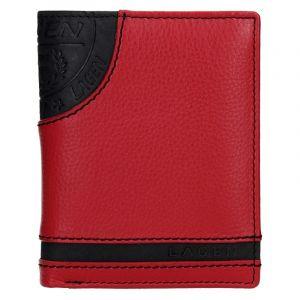 Pánská kožená peněženka Lagen Brandon – černo-červená 13653