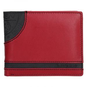 Pánská kožená peněženka Lagen Elliot – černo-červená 13652