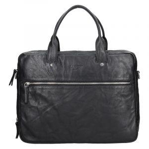 Pánská kožená business taška Lagen Porte – černá 13612