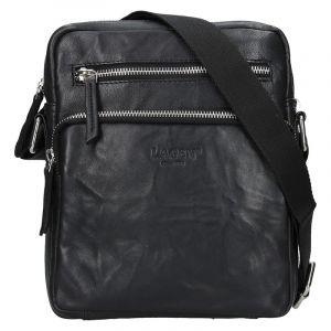 Pánská kožená taška přes rameno Lagen Boris – černá 13608