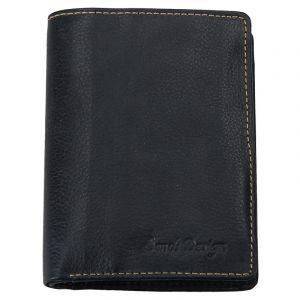 Pánská kožená peněženka SendiDesign Boris – černá 13520