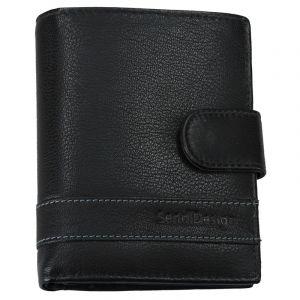 Pánská kožená peněženka SendiDesign Evron – černá 13517
