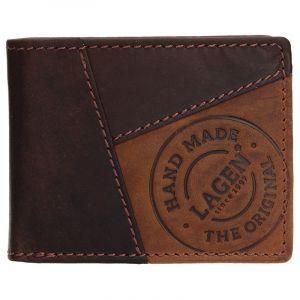 Pánská kožená peněženka Lagen Livren – hnědá 13462