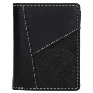 Pánská kožená peněženka Lagen Thor – černá 13461