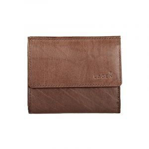 Pánská kožená slim peněženka Lagen Jonatan – hnědá 13397