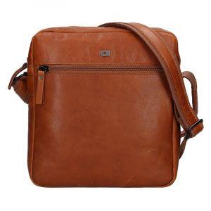 Pánská kožená taška Daag Paul – koňak 13340