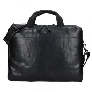 Luxusní pánská kožená taška Daag Martin – černá 13338