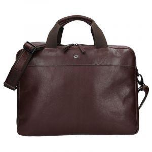 Luxusní pánská kožená taška Daag Martin – tmavě hnědá 13337