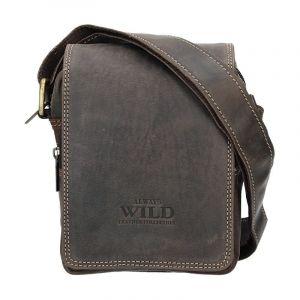 Pánská taška přes rameno Always Wild Ludvik – tmavě hnědá 12924