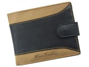 Pánská kožená peněženka Pierre Cardin Julien – černo-hnědá 12739