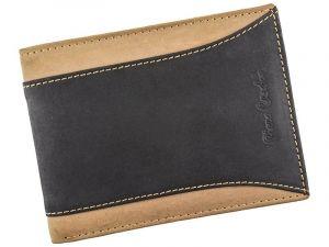 Pánská kožená peněženka Pierre Cardin Dan – černo-hnědá 12737