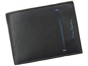 Pánská kožená peněženka Pierre Cardin Elvin – černo-modrá 12724