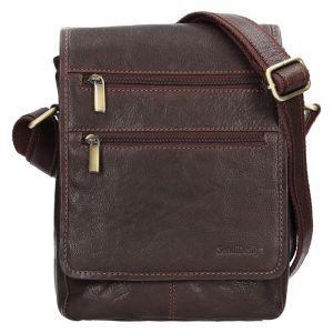 Panská kožená taška přes rameno SendiDesign Maxim – hnědá 12691