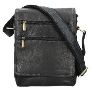 Panská kožená taška přes rameno SendiDesign Maxim – černá 12689