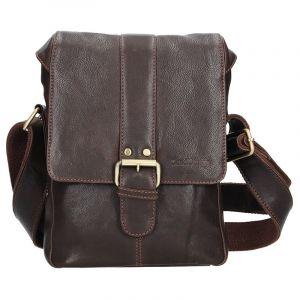 Panská kožená taška přes rameno SendiDesign Pier – hnědá 12681