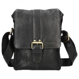 Panská kožená taška přes rameno SendiDesign Pier – černá 12680