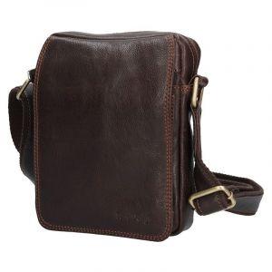 Pánská kožená taška přes rameno SendiDesign CT006 – hnědá 12678