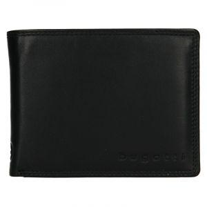 Pánská kožená peněženka Bugatti Manol – černá 19050