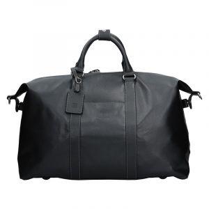 Pánská celokožená cestovní taška Hexagona 463134 – černá 12163