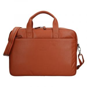 Pánská kožená taška přes rameno Hexagona Tango – oranžová 12158