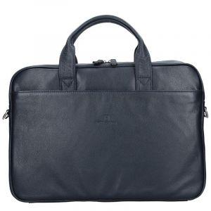 Pánská kožená taška přes rameno Hexagona Tango – modrá 12105